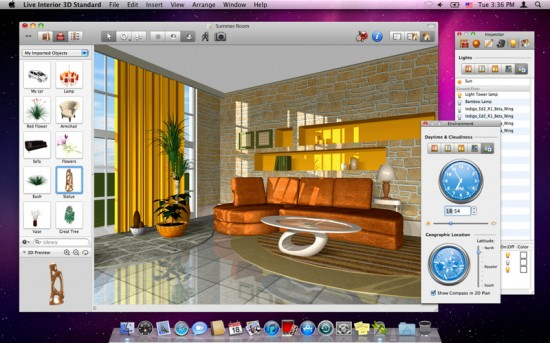 Live interior 3d l 39 applicazione di interior design su mac for Programma per disegnare interni