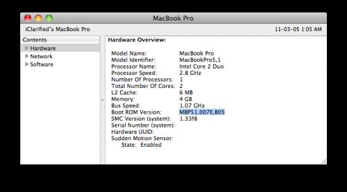 update firmware on macbook late 2009