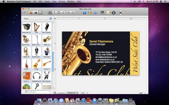 Business card composer 5 crea facilmente biglietti da visita su mac una colourmoves