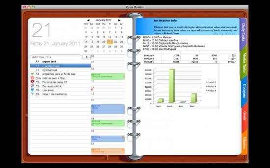 Opus domini il personal planner gratuito per mac slidetomac for Software gratis arredamento interni italiano