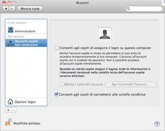 come faccio a creare un nuovo account su mac