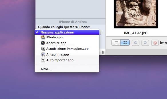 foto iphone su mac senza iphoto