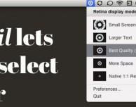 Modifica velocemente la risoluzione del monitor su Mac con Pupil