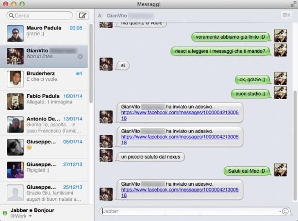 Amato Come impostare la chat di Facebook nell'app Messaggi di OS X  DB04