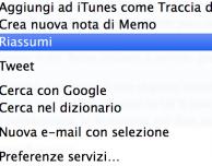 Come riassumere qualsiasi testo su OS X