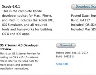 Apple rilascia Xcode 6.0.1 su App Store e una nuova preview di OS X Server