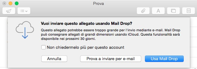 allegati da mail drop