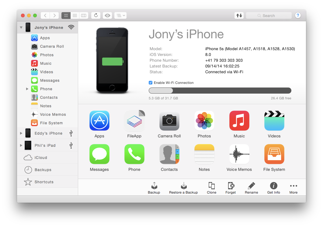 ios manager for mac