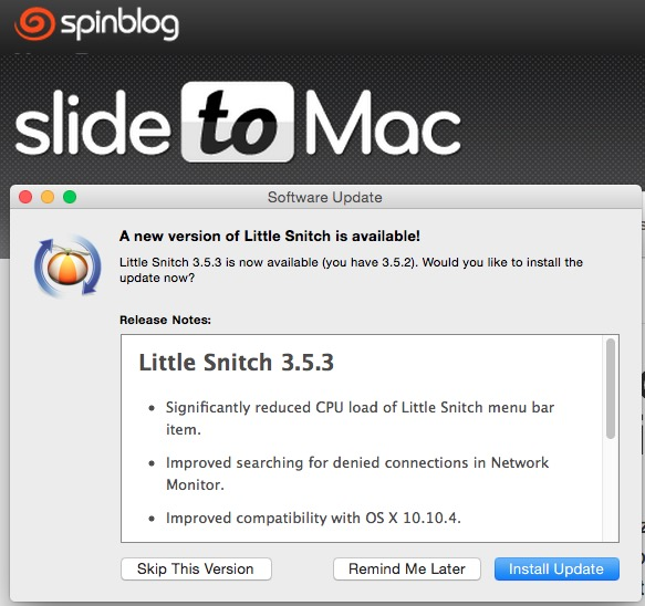 Little Snitch Mac firewall - SlideToMac