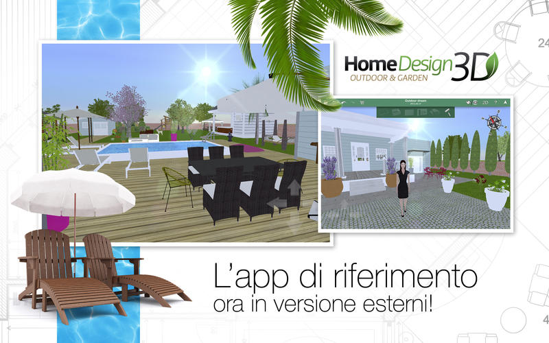 Home design 3d outdoor garden crea il tuo for Garden design 3d mac