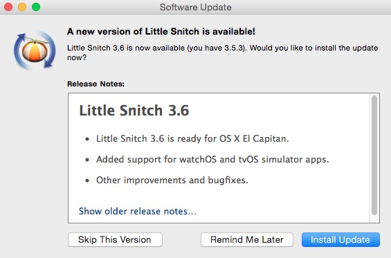 Little Snitch firewall Mac pic0