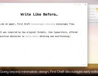 First Draft: editor di testo per scrivere bozze