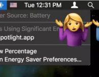 Come vedere la durata residua della batteria su MacOS Sierra 10.12.2
