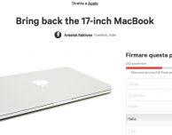 Gli utenti vogliono il MacBook Pro da 17 pollici, aperta una petizione