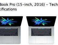 Apple elimina la dicitura 'Late' dai MacBook Pro 2016