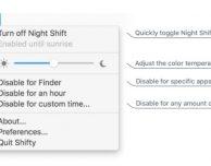 Shifty: disattivare la modalità notte solo per determinati programmi