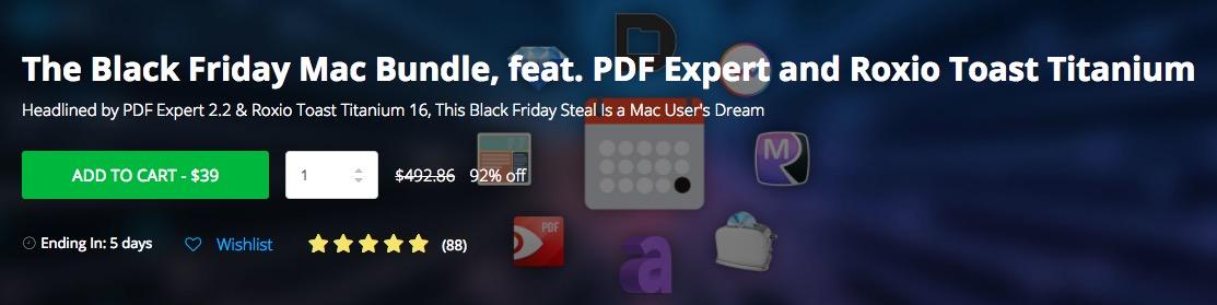 The Black Friday Mac Bundle: PDF Expert, Roxio Toast e tanti altri