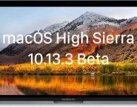 Apple rilascia macOS High Sierra 10.13.3 beta 5 per sviluppatori