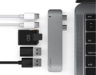 Doppio hub USB-C 6-in-1 con lettore SD card per MacBook Pro in offerta con codice SlideToMac