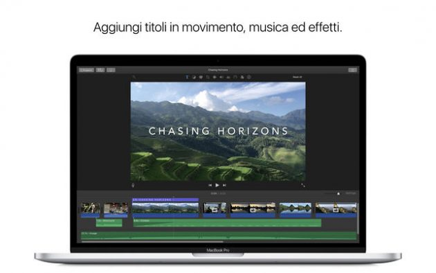 Apple aggiorna iMovie, Motion e Compressor