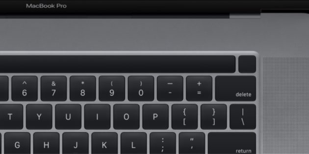 touch bar macbook pro 16