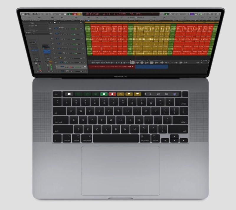 tastiera macbook pro 16