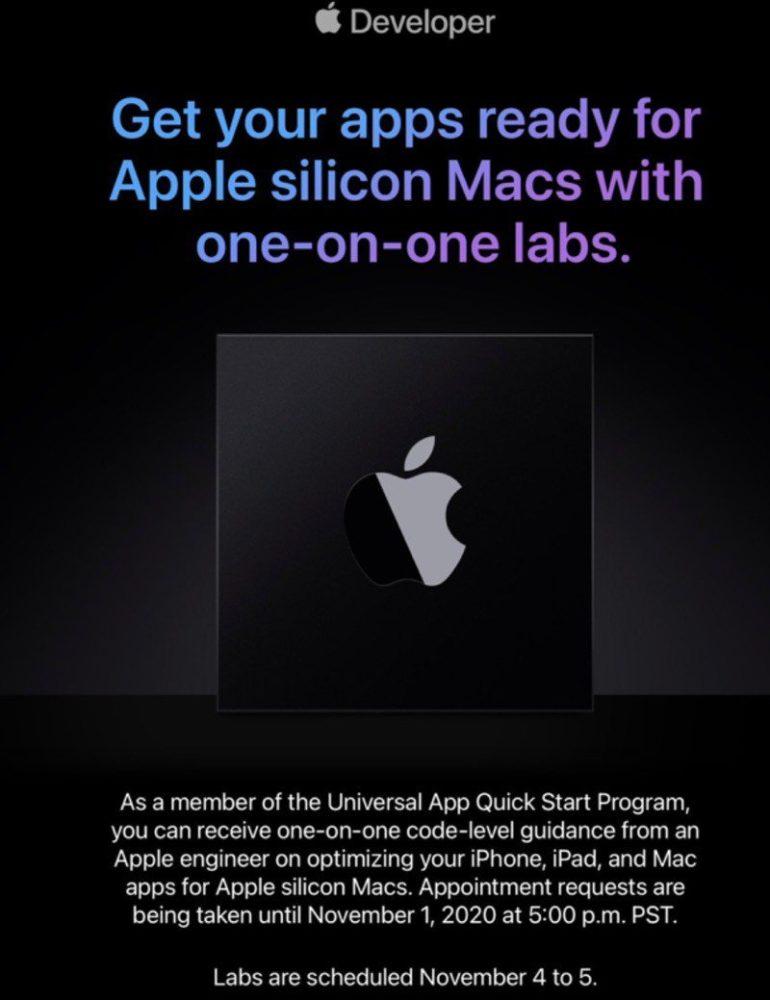 apple silicon sviluppatori