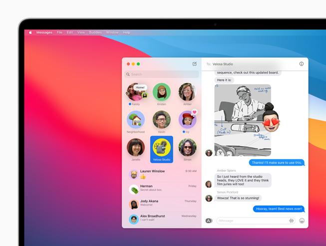 messaggi big sur apple