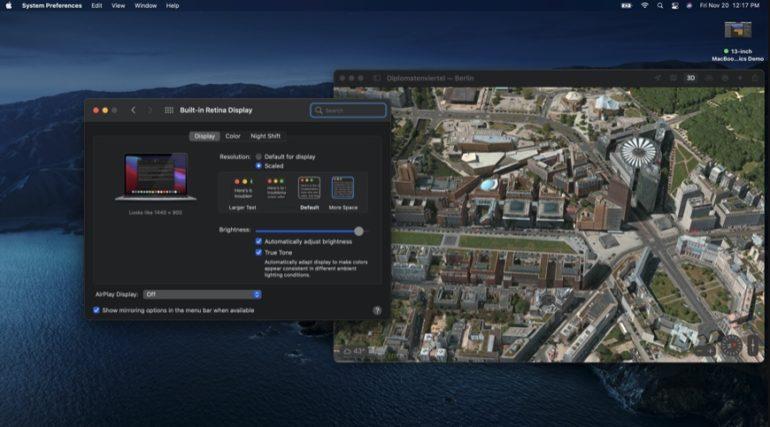 mac m1 risoluzione schermo