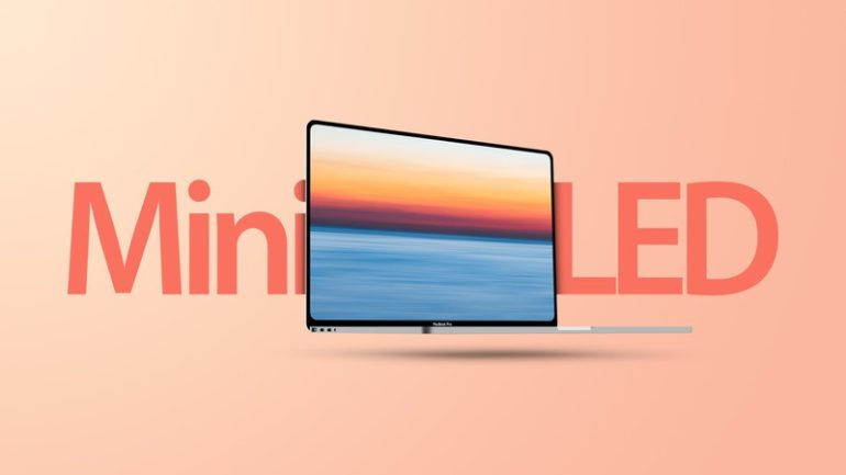 MacBook Pro display mini-LED