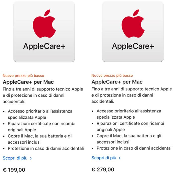 costo applecare+